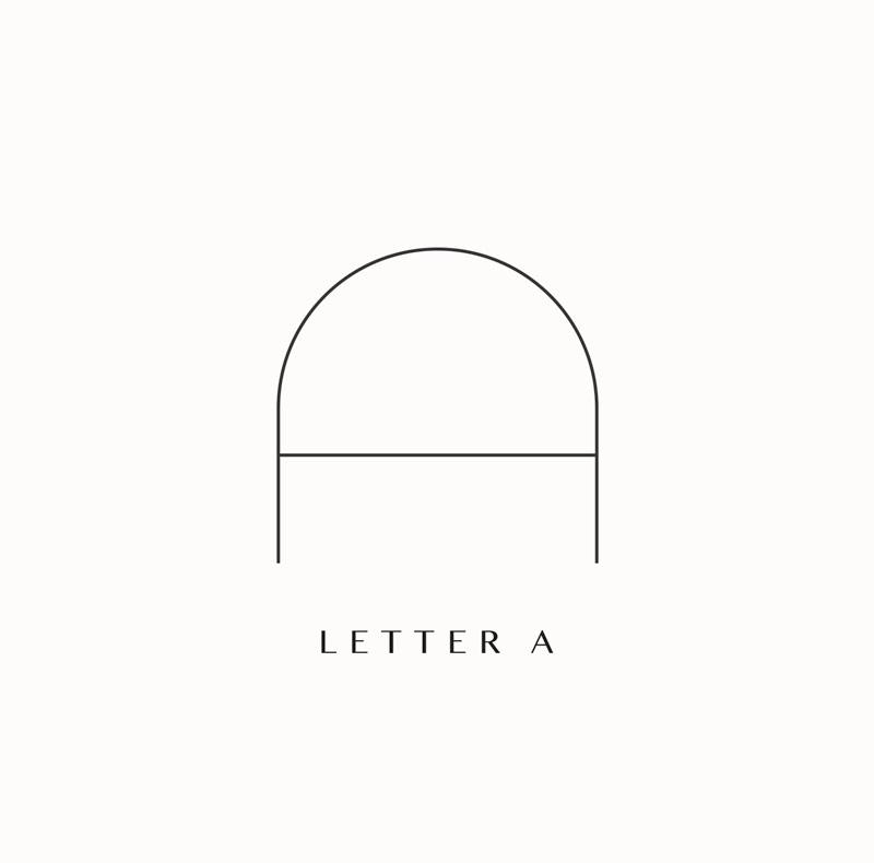 Monogram logo branding elements A archway depot. Design by Brittany Hurdle beckon webeckon
