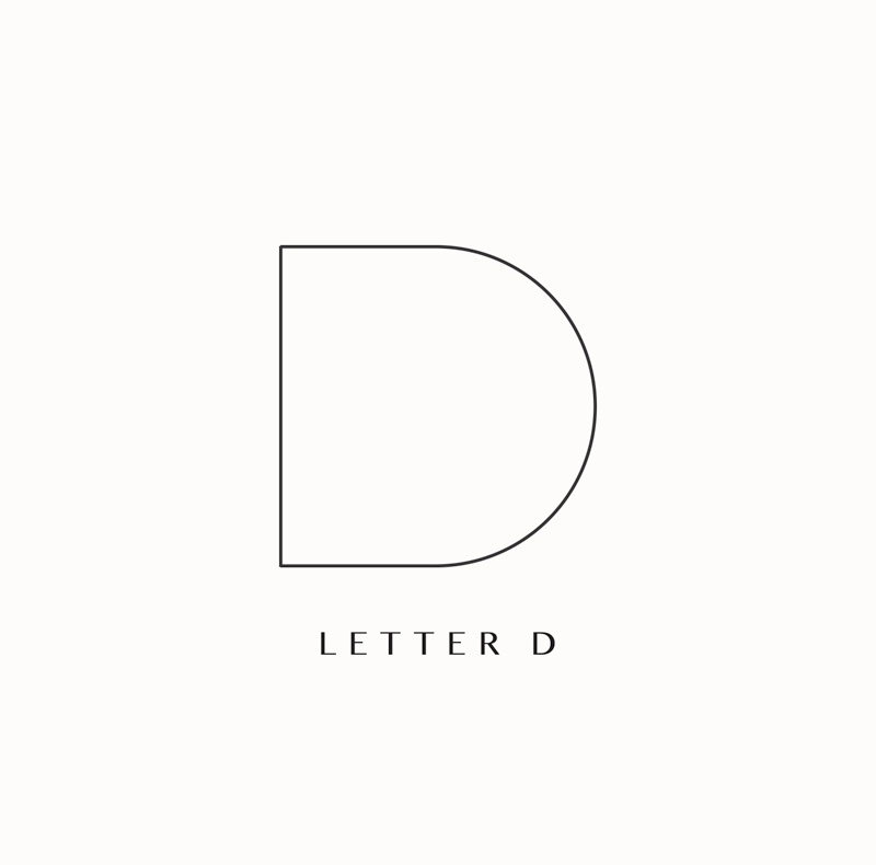 Monogram logo branding elements D archway depot. Design by Brittany Hurdle beckon webeckon