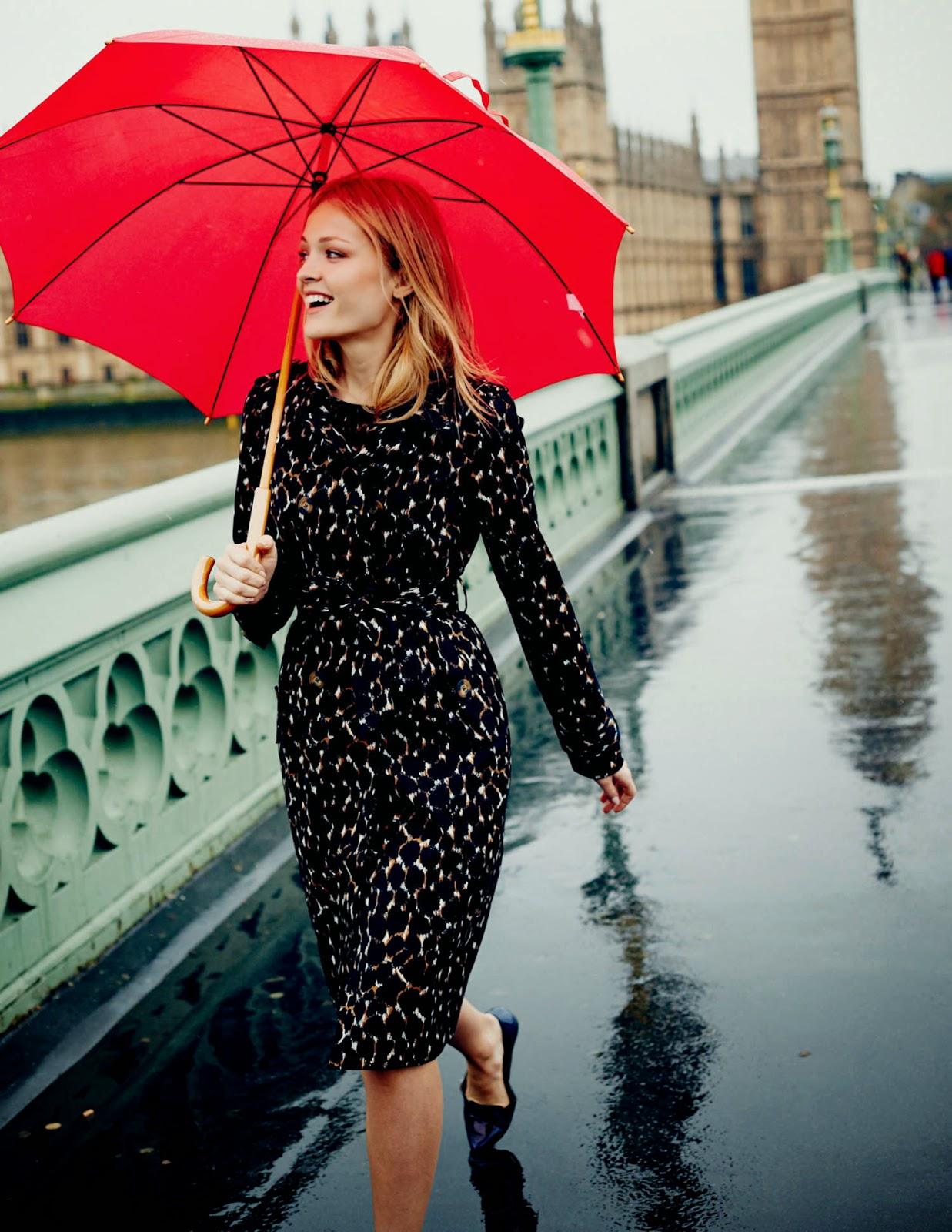 Boden umbrella raining London Big Ben