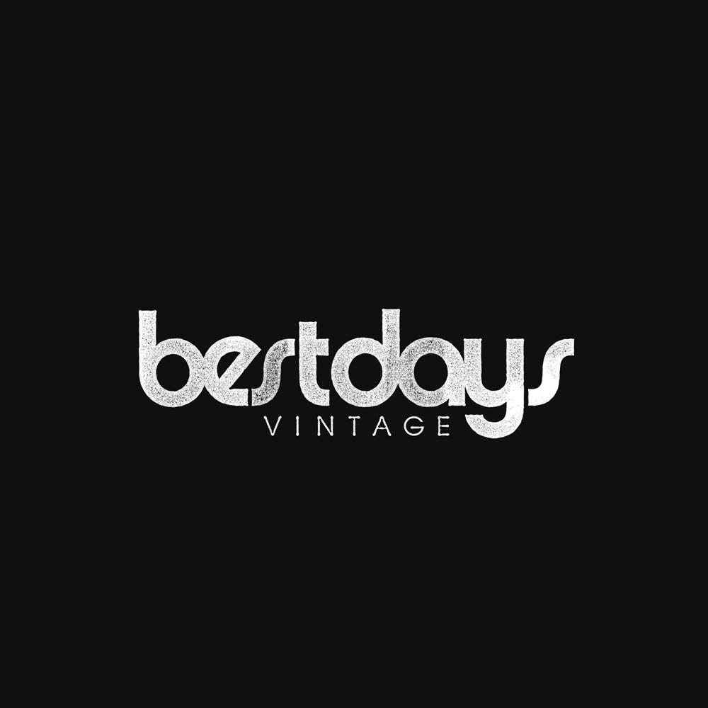 Typographic distressed logo branding for bestdays vintage clothing retailer. Design by Brittany Hurdle beckon webeckon