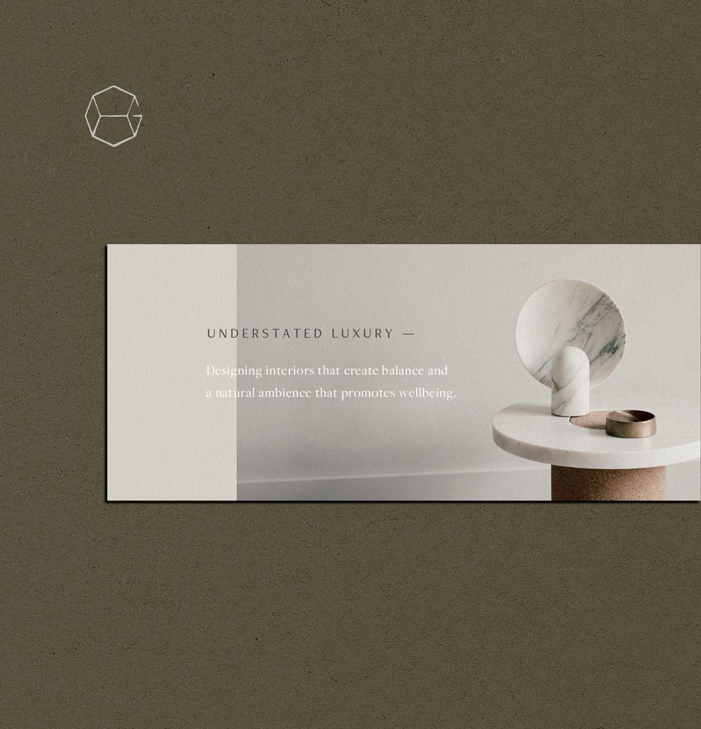 minimalist typographic design House of Grey design brittany hurdle beckon webeckon