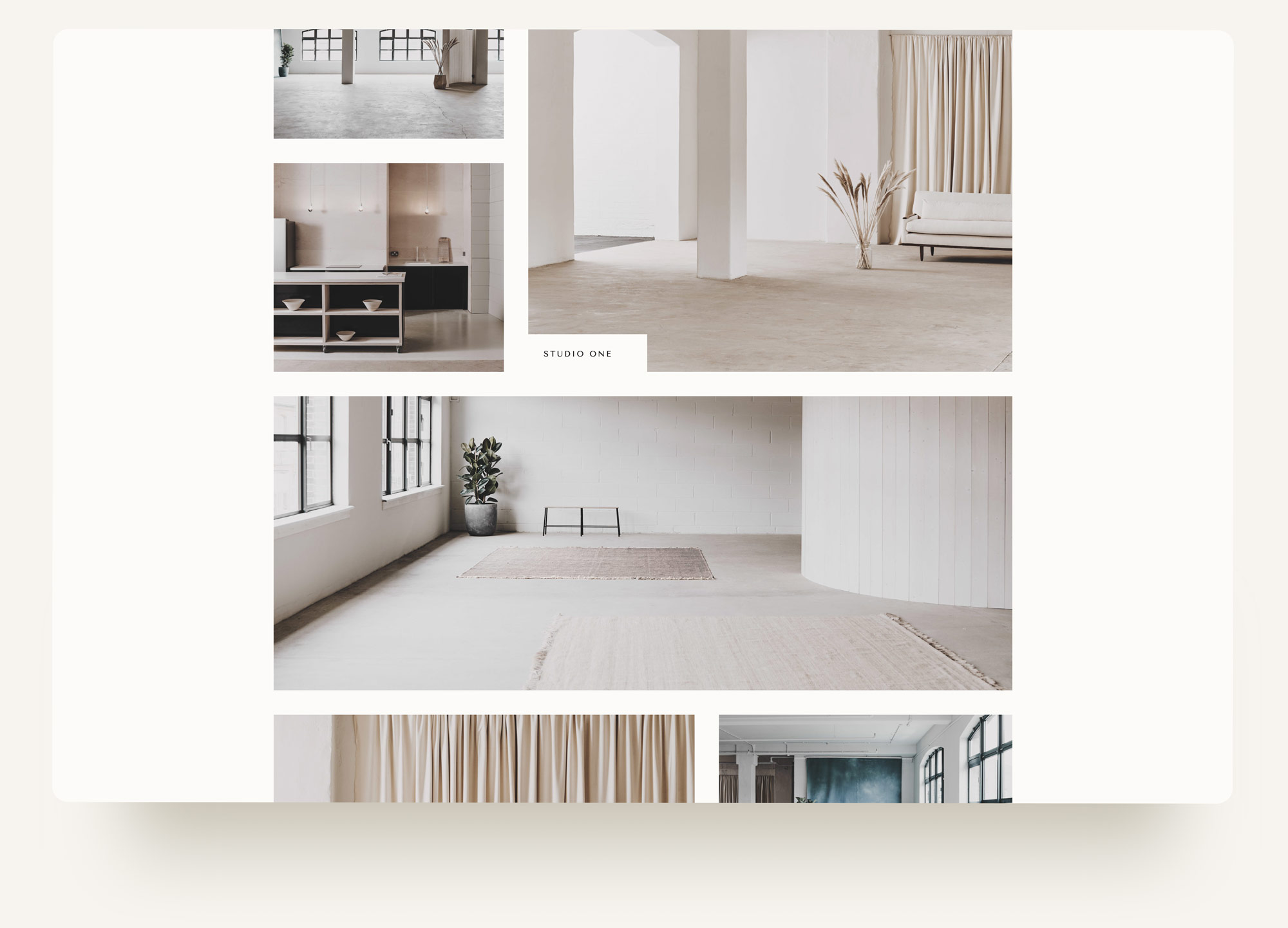 Image gallery with rollover captions for popup photography studio Archway Depot on Squarespace. web design by Brittany Hurdle beckon webeckon
