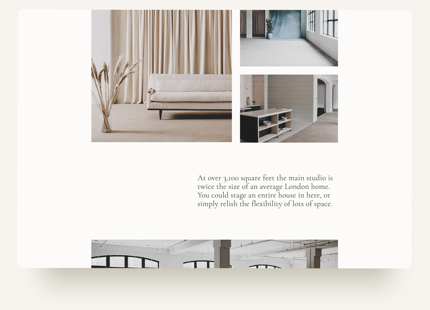 Archway Depot image grid pullquote web design on squarespace. Custom code and design by Brittany Hurdle beckon webeckon