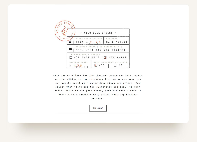 Bonebag Vintage. Retro form illustration with distressed and lofi printer font and stamp on Squarespace ecommerce website design by Brittany Hurdle beckon webeckon