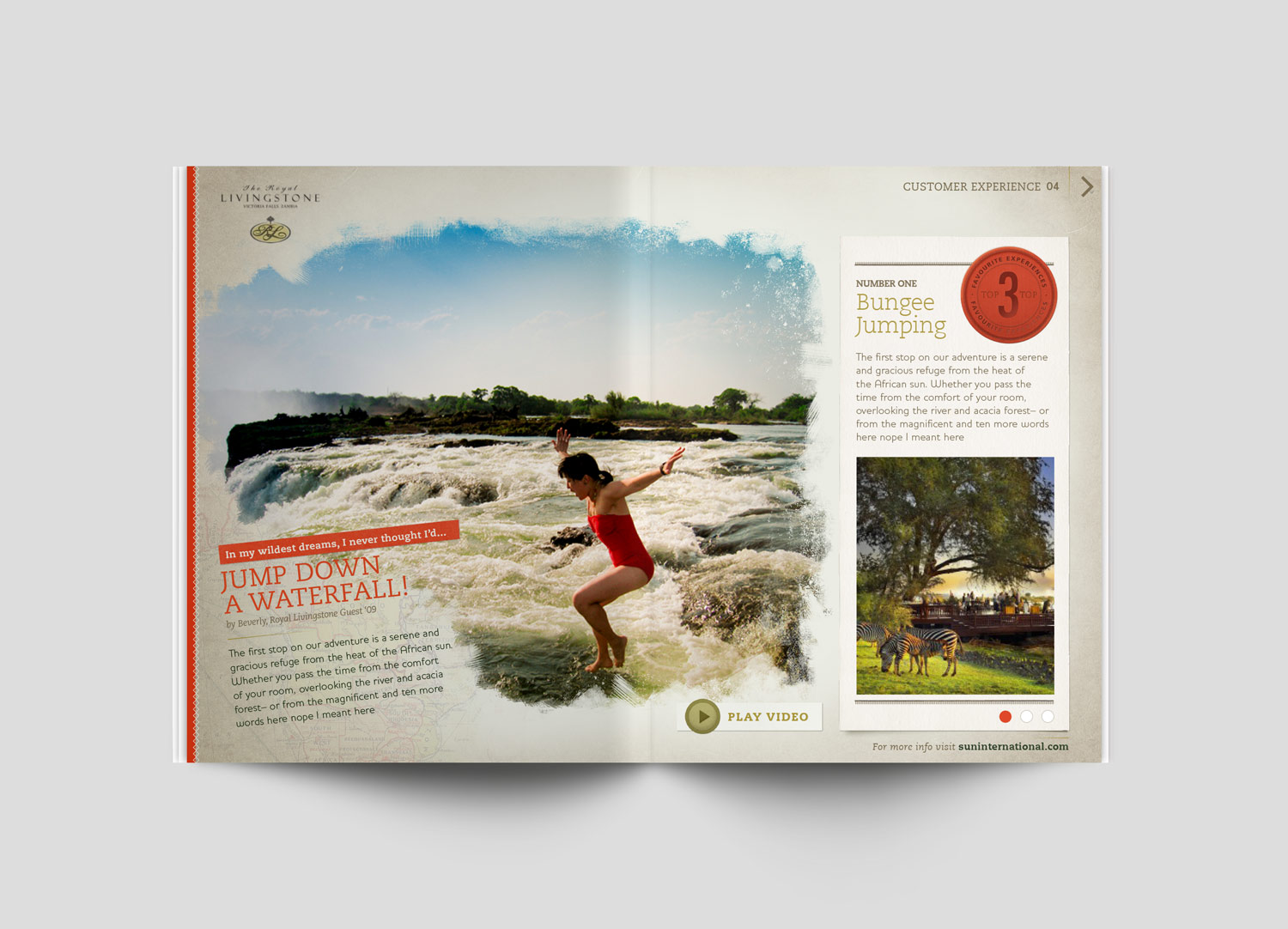 design brittany hurdle African vacation digital travel magazine editorial texture