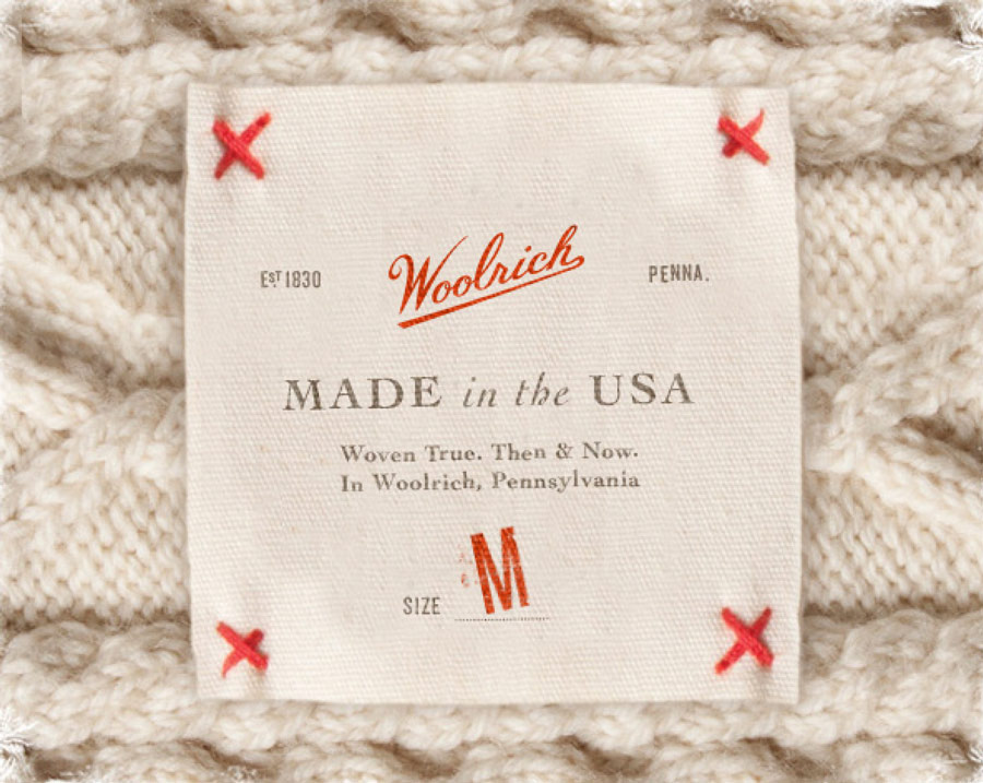 woolrich made in usa apparel tag fabric design brittany hurdle threshold creative