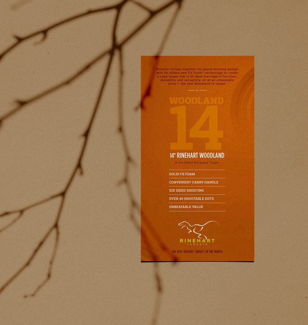 rinehart archery target packaging branding typography design threshold creative brittany hurdle