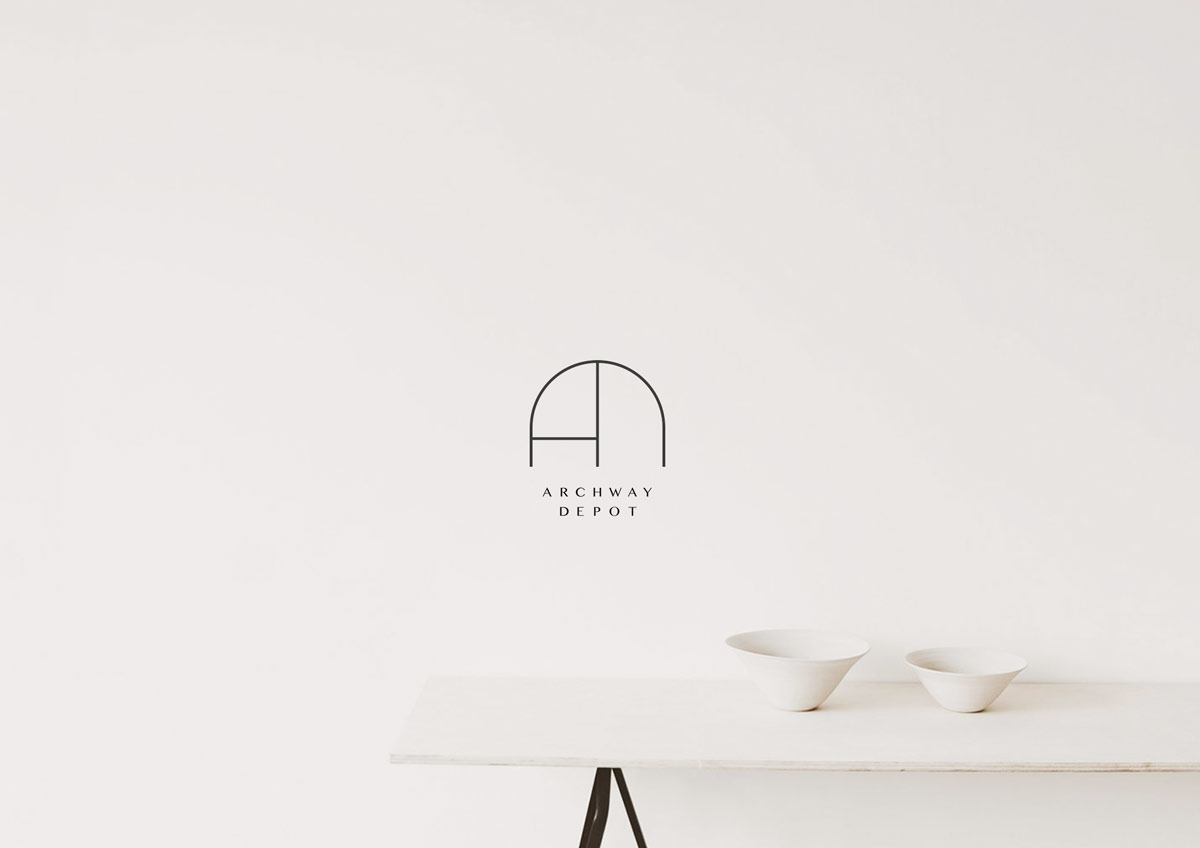 Archway Depot minimal line icon monogram design Brittany Hurdle Beckon